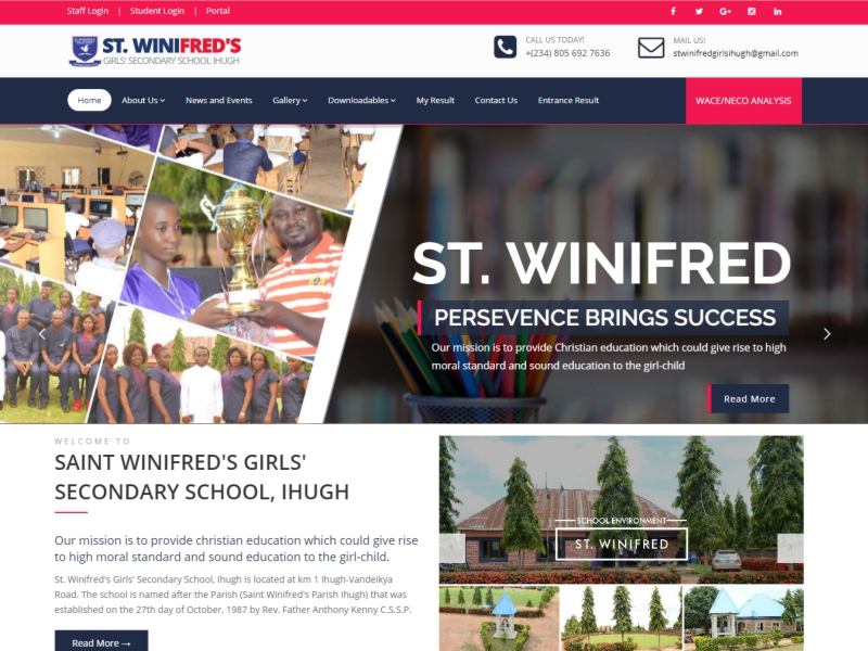 Visit SAINT WINIFRED'S GIRLS' SECONDARY SCHOOL, IHUGH website at https://www.swgssihugh.com/ powered by Dijittech Concept