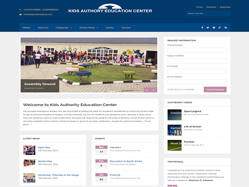 Visit Kids Authority Education Center website at http://kidsauthoritygroup.com powered by Dijittech Concept