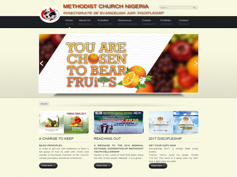 Visit Methodist Church Nigeria Directorate of Evangelism and Discipleship website at http://mcnded.org powered by Dijittech Concept